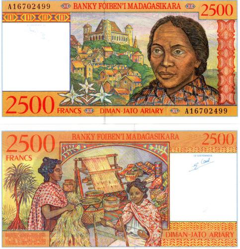 MADAGASCAR Africa 2500 Francs UNC 1998 p-81