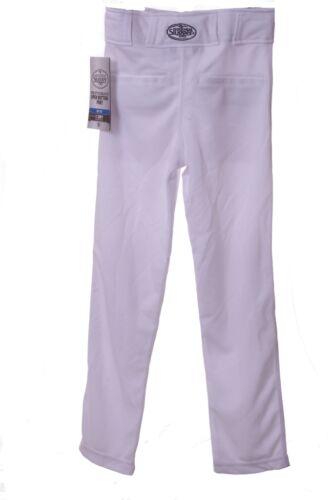 Louisville Slugger Boys Zipper Zip Up White X-DRY Baseball Pants Sm Med Lg  NEW