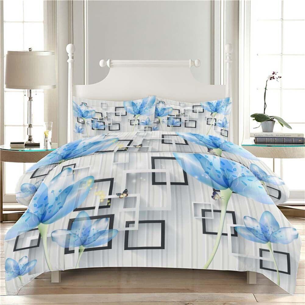 Blau Scatter Thin 3D Printing Duvet Quilt Doona Covers Pillow Case Bedding Sets