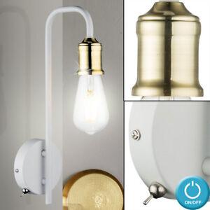 VINTAGE-applique-murale-spot-laiton-eclairage-industriel-luminaire-couloir-blanc