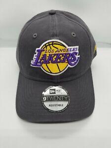 NEW-ERA-9TWENTY-ADJUSTABLE-HAT-NBA-LOS-ANGELES-LAKERS-CHARCOAL-GRAY