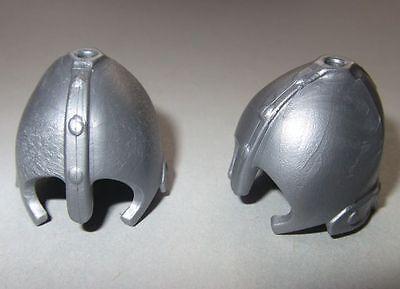 17695 Casco plata 1 orificio 2u playmobil,helmet,medieval,caballero,knight