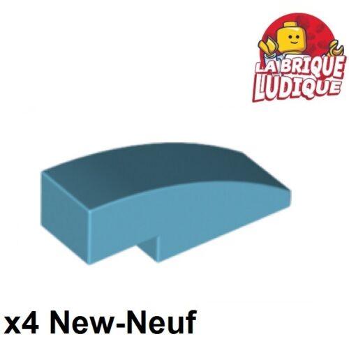 4x Slope curved Slope curve 3x1 azur medium//medium azure 50950 NEW Lego