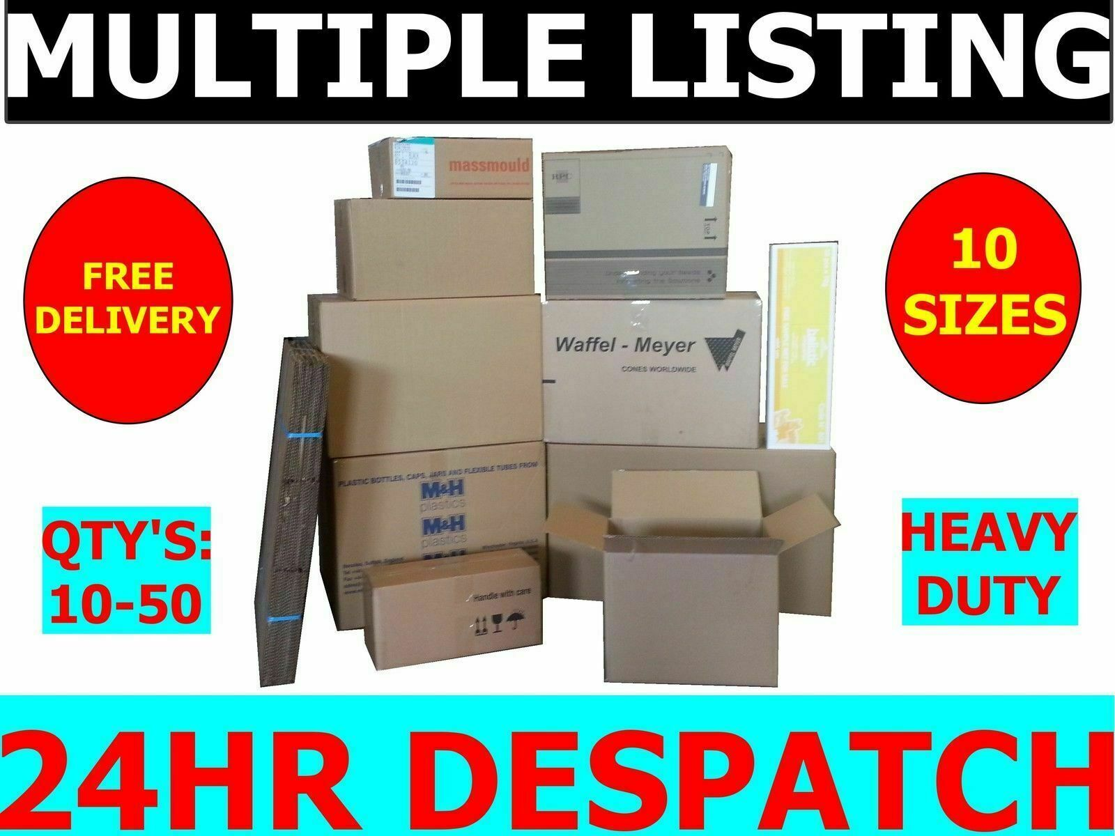 House Removal Storage Strong Cardboard Boxes Various Sizes S   M   L   XL