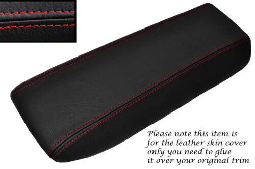 RED STITCH LEATHER ARMREST COVER FITS PORSCHE 991 CARRERA BOXSTER 981 12-15