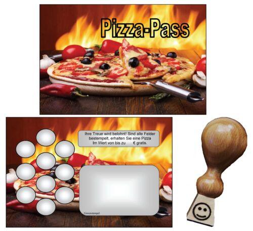 100 Bonuskarten Treuekarten Pizza Pass Pizzeria Pizzapass #2 Bonuskartenstempel