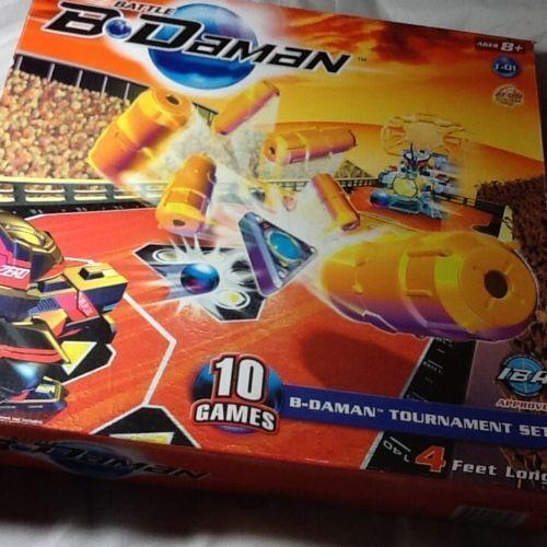 HASBRO batalla bdaman 10 Juegos B-DAMAN torneo Set 4 pies de largo 2005 edades 8 Nuevo