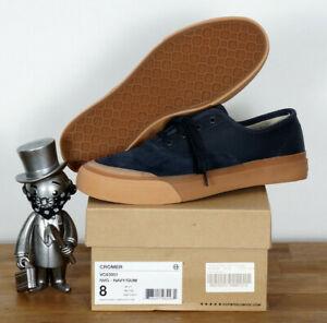 Huf-Worldwide-Footwear-Skate-Schuhe-Shoes-Cromer-Navy-Gum-Suede-12-45-5
