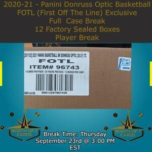 T.J. Warren 2020-21 - Panini Donruss Optic Basketball FOTL Case Break