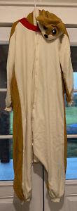 Kigurumi Shiba Inu Dog Costume Pajamas Hoodie Adult One Size Sazac Island 2868