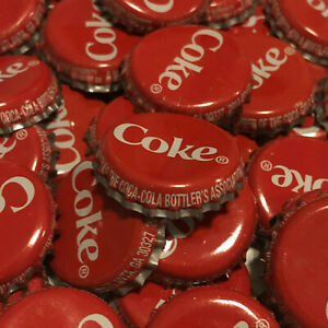 Coke Pry-Off Metal Crown Bottle Caps ~ Lot of 10 ~ Varied Condition