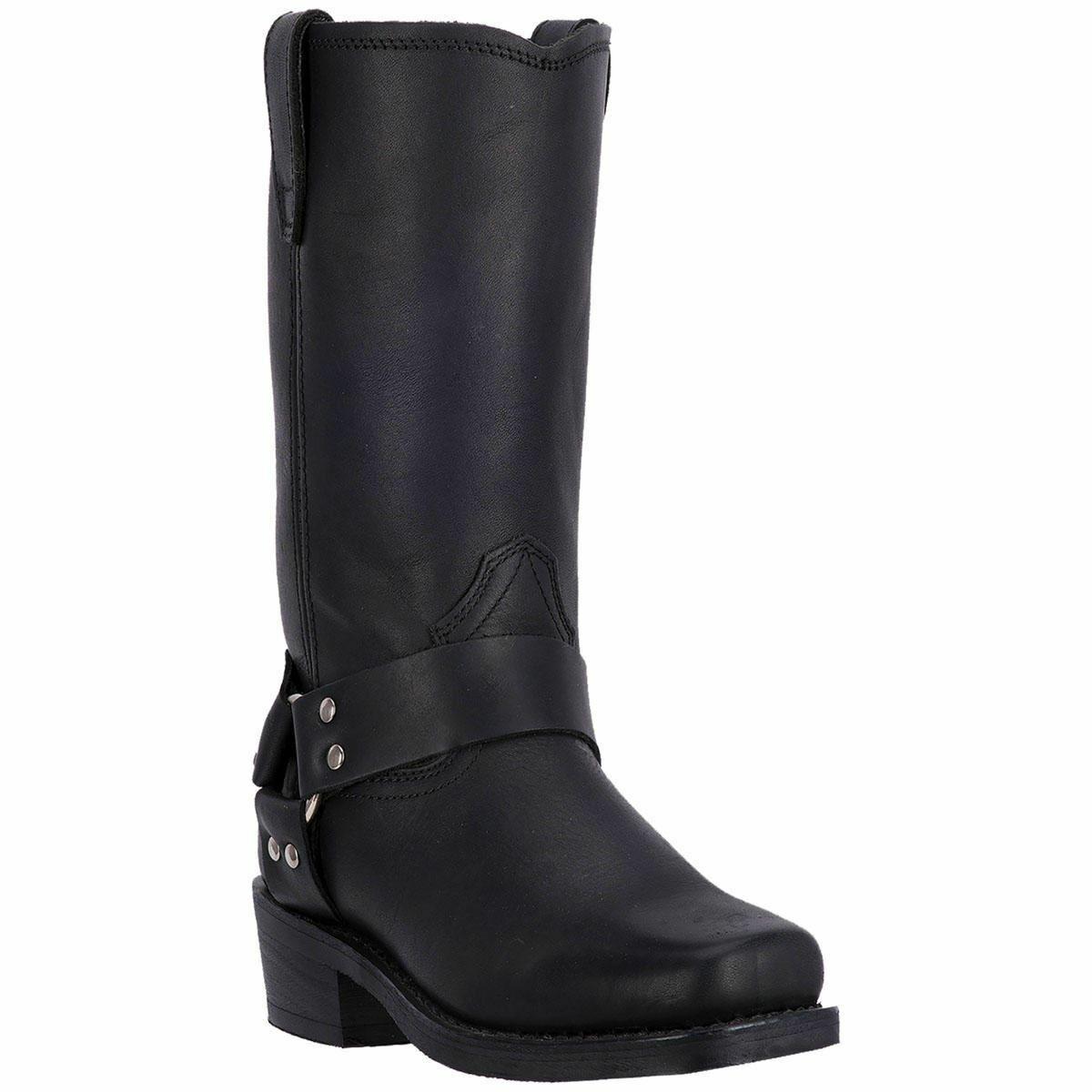 Dingo hombre cuero botas de vaquero occidental DI19057 Negro