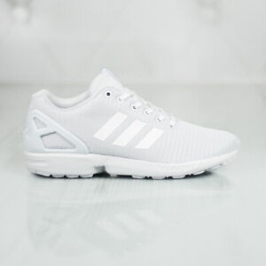 f3e1eb51251bd Image is loading Adidas-Originals-ZX-FLUX-SHOES-Triple-White-S32277