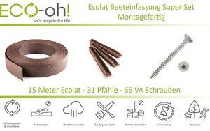 Ecolat 14 Cm 15 M + Pieux & Vis | Teichrandband Profilband Pour Vos Parterres-afficher Le Titre D'origine Dekkibu3-10121301-658510027