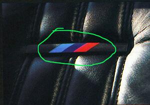 Bmw E28 M535i M5 E30 M3 4x Emblem Badge Seats Sticker Decal Adhesive