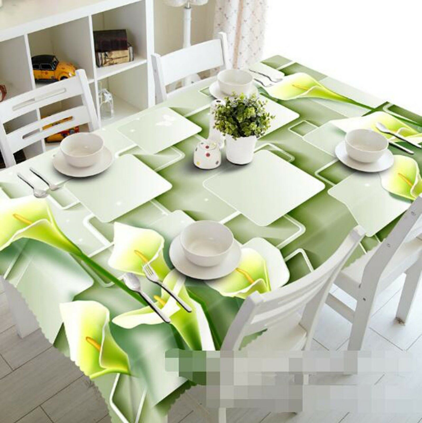 3D Calla Lily Petal 0 Tablecloth Table Cover Cloth Birthday Party Event AJ Lemon