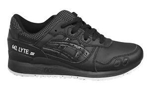Cordones Asics Hombre Zapatos Hl701 lyte Con Negro Cuero Zapatillas 9090 Gel Iii xXqprwXA