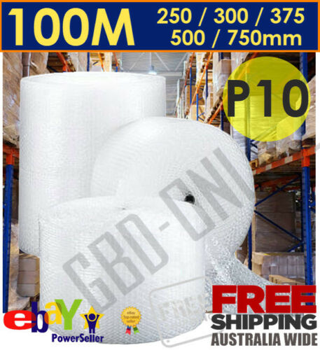 Bubble Cushioning Wrap Clear Polycell P10 10mm Various Sizings Free Shipping