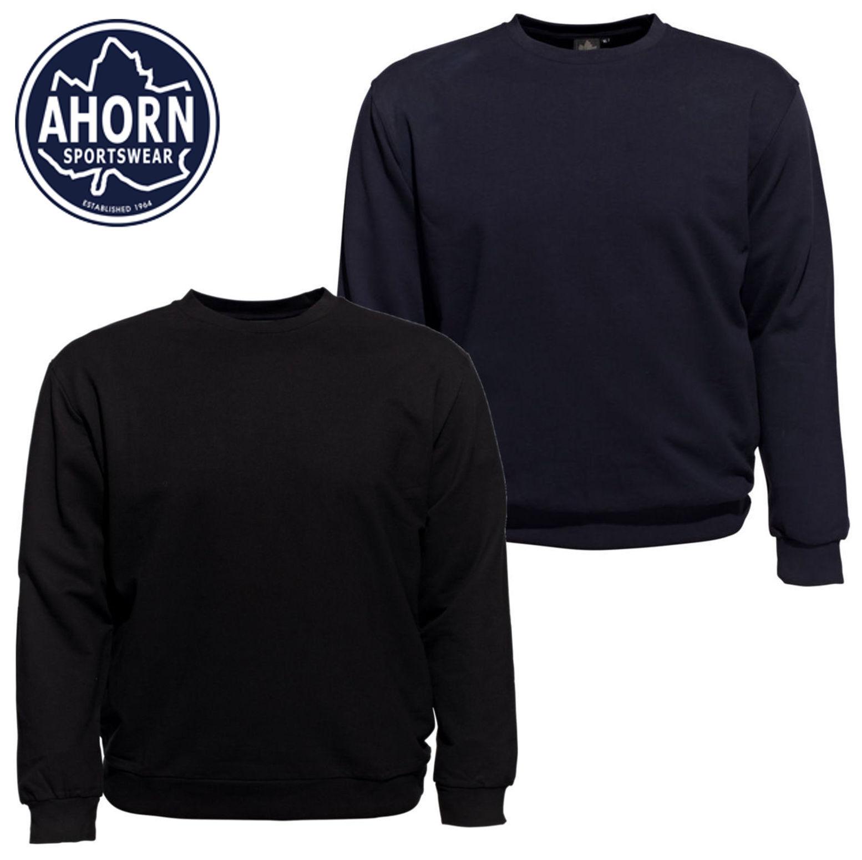 Ahorn Pullover XL bis 10XL Übergröße Sweatshirt Rundhals Schwarz Blau