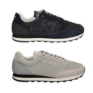 EA7 EMPORIO ARMANI scarpe ginnastica uomo donna bambino Blu Grigia ... 84d122a9e40