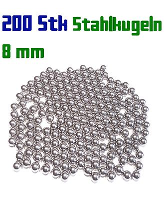GroßZüGig 200 X 8mm Stahlkugeln Steinschleuder Zwille Slingshot Pocket Shot Munition Angenehme SüßE