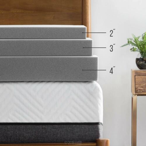 3 4 Inch Bamboo Charcoal Memory Foam Mattress Topper LUCID 2 Twin Full Queen