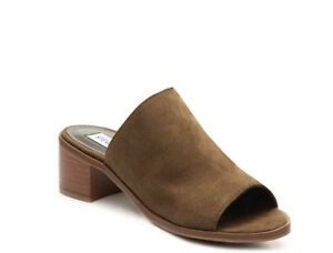 d3f2d347548 Image is loading Steve-Madden-Richelle-Women-Green-Slides-Sandal-Size-