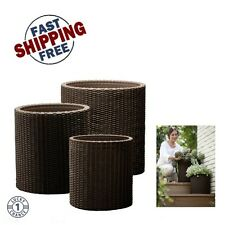 Flower Pots Planters 10 Inch Indoor Plant Containers for Flowers ...