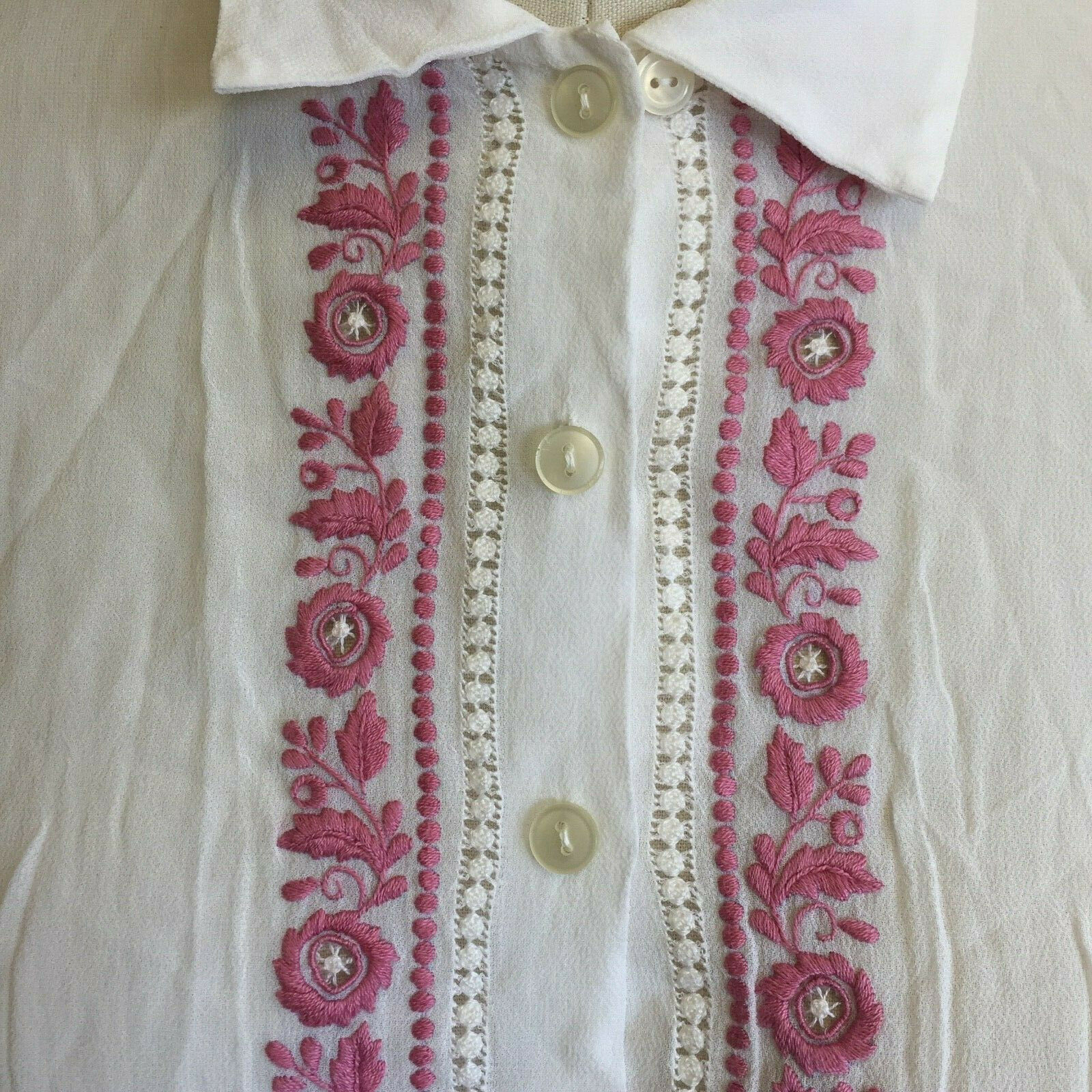 Vtg Hungarian Blouse S Embroidered Hand Made Hung… - image 1