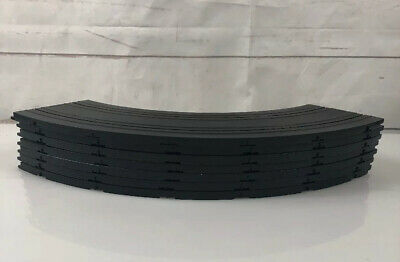"""#5831 Lot of 10 Tyco Slot Car 9/"""" 1//4 Curve Track 10"""