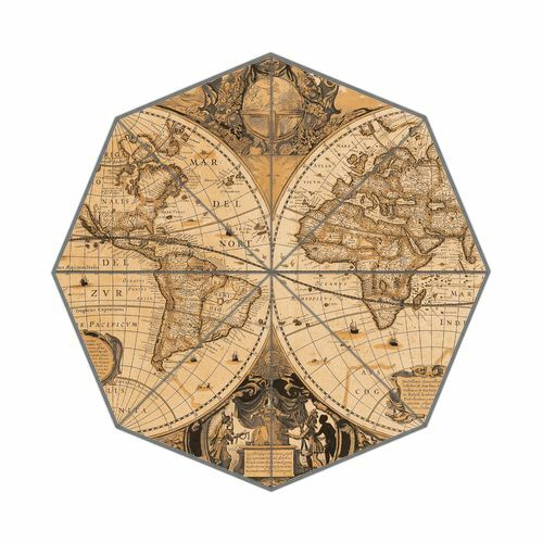 Our Earth Our Home World Map Foldable Umbrella Nice Design Travel Umbrella Gifts