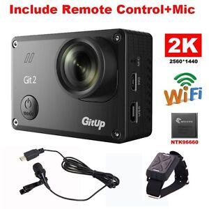 16M 2K Wifi Git2 Sport DV-Video-Aktion Kamera Mini Camcorder + Steuerung + Mic