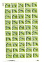 Uganda 1969 Flores 20 centavos reimpresiones 1972 en papel esmaltado ordinaria halfsheet estampillada sin montar o nunca montada