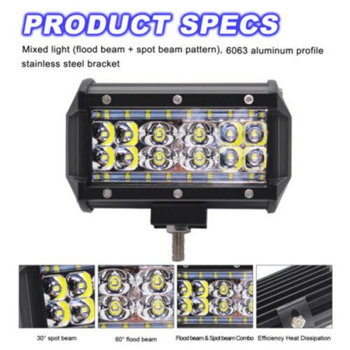 1x168W 5Inch LED Car Work Light Bar Spot Beam SUV Boat Driving Offroad ATV Lamp