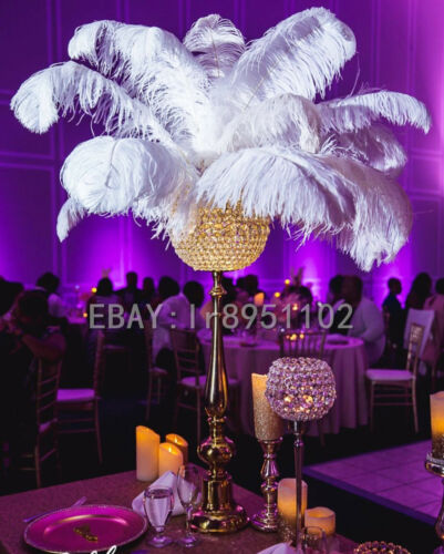 Newest White Ostrich Feathers 16-18 inch 40-45 cm 10//50//100 pcs Diy Carnival