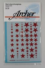 Archer (Various Scales) Russian Red Star Insignias (60 pieces, 10 sizes) AR35386
