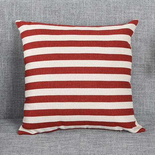 Stripe Print Taie D/'oreiller Canapé Lit Décoration Festival Taie d/'oreiller Housse de coussin L