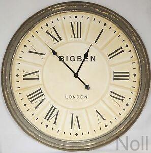uhr wanduhr landhaus clock colmore riesig xxl 80 cm ebay. Black Bedroom Furniture Sets. Home Design Ideas