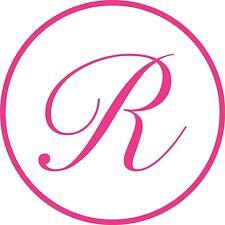 "Letter ""R"" STENCIL Initial Vinyl Car Decal Window Sticker Monogram Lettering"