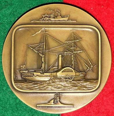 CELEBRITIES BOATS / WHEELS SHIP BRONZE MEDAL BY J.ALVES