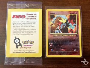 Entei #34 - Black Star Promo Rev. Holo - NEO - WOTC Pokémon - NM Factory Sealed