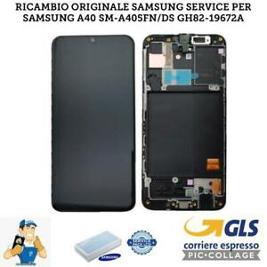 DISPLAY-LCD-SAMSUNG-GALAXY-A40-2019-A405-SM-A405FN-NERO-ORIGINALE-SERVICE-PACK
