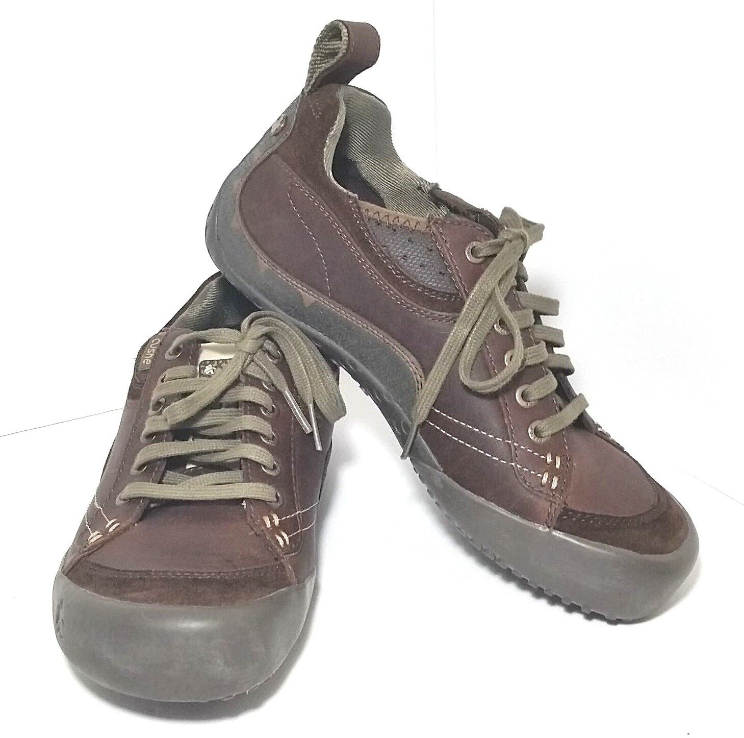 Cushe Frequent Flyer Leather shoes Brown Size 8 Lace Up Style UM00485