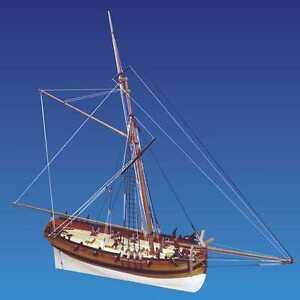 Caldercraft Hm Cutter Sherbourne 1763 1:64 (c9010) Kit de bateau modèle 5055426700909