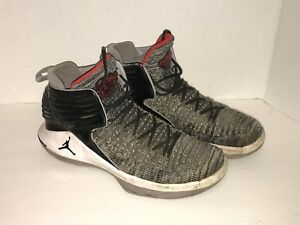 new concept 67b6f c10d3 Details about Boys Nike Air Jordan XXXII AA1254-002 Grey White Black Size  7US 6UK