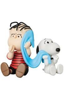 Peanuts-Linus-amp-Snoopy-3-1-2-2in-Figurine-Set-Medicom-New-KB14