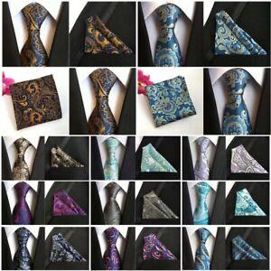 Men-s-Neckties-Handkerchief-Floral-Paisley-Wedding-Party-Pocket-Square-Ties-Set