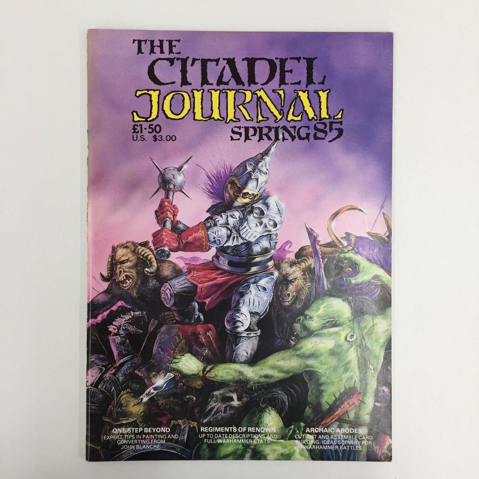 THE CITADEL JOURNAL JOURNAL JOURNAL SPRING 85 COMPLETE UNCUT CARDS GAMES WORKSHOP RARE ea3ea8