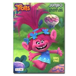 image is loading 2 pack dreamworks trolls 96 pages jumbo coloring - Jumbo Coloring Book