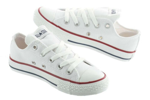 Converse Chuck Taylor All Star White Low Top Kids Youth Boy Girl Size 11-3 New